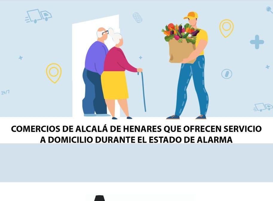 El Ayuntamiento de Alcalá elabora un directorio de establecimientos locales que reparten a domicilio