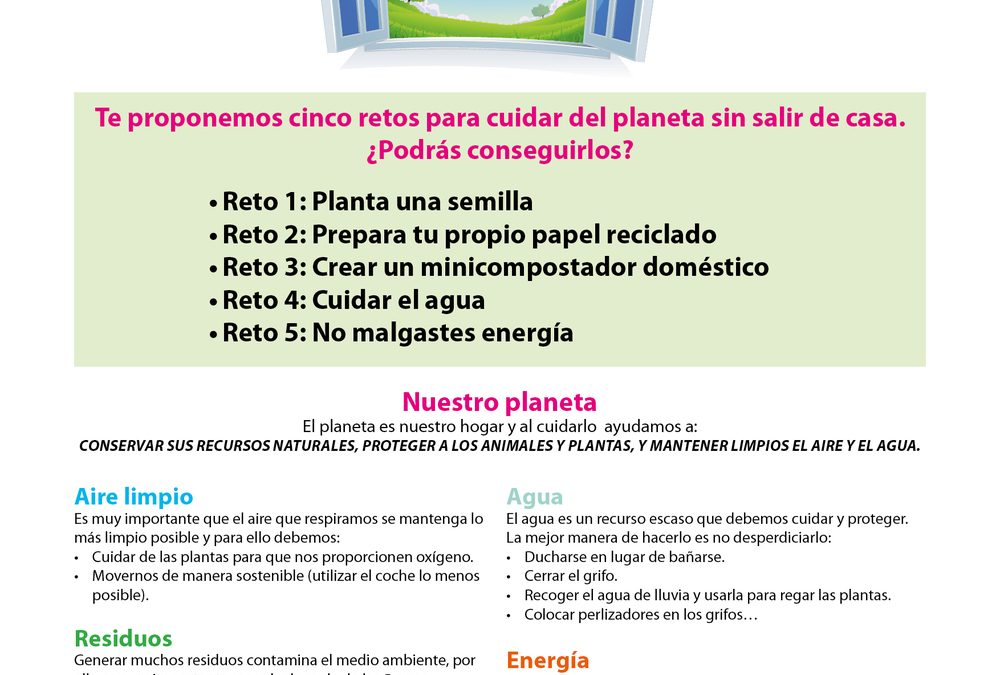 Cómo cuidar el planeta desde casa: 5 retos medioambientales para conservar nuestros recursos naturales