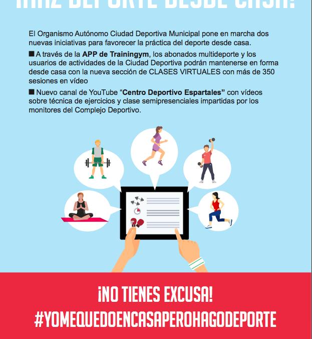 El Ayuntamiento pone en marcha #YoMeQuedoEnCasaPeroHagoDeporte