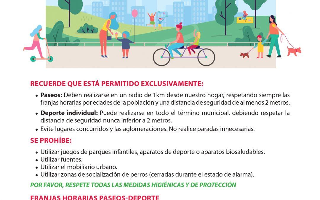 El Ayuntamiento abre mañana 700.000 metros cuadrados de parques para facilitar el paseo y el ejercicio físico individual