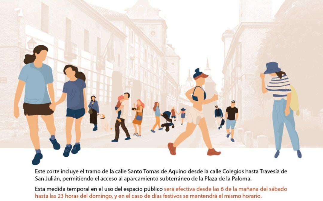 Desde el próximo fin de semana la Calle Colegios se peatonaliza para ampliar las zonas de paseo en Alcalá de Henares