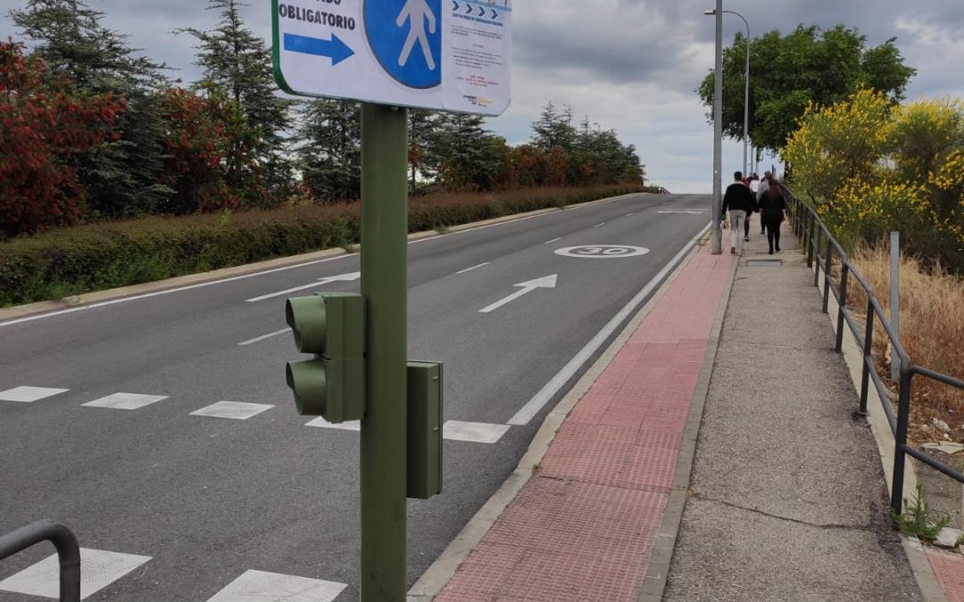 Se habilitan espacios de sentido único para viandantes en pasos subterráneos y el Puente de Espartales para garantizar la seguridad de los vecinos y vecinas