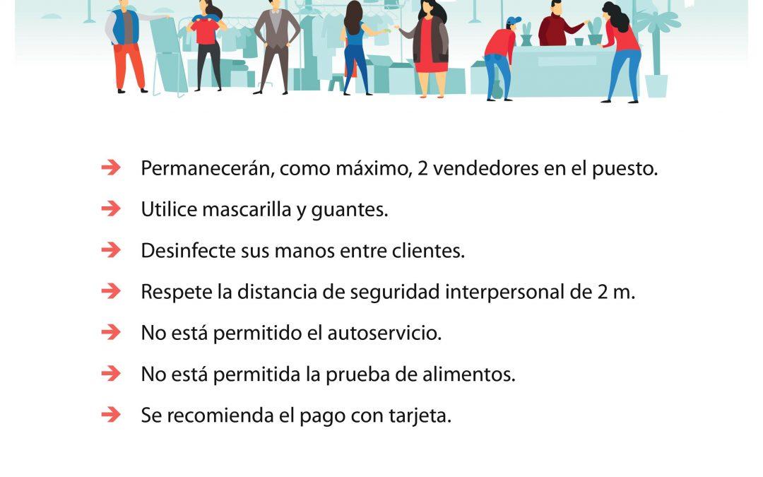 El lunes 1 de junio reabren los mercadillos de Alcalá de Henares con medidas de seguridad y distanciamiento