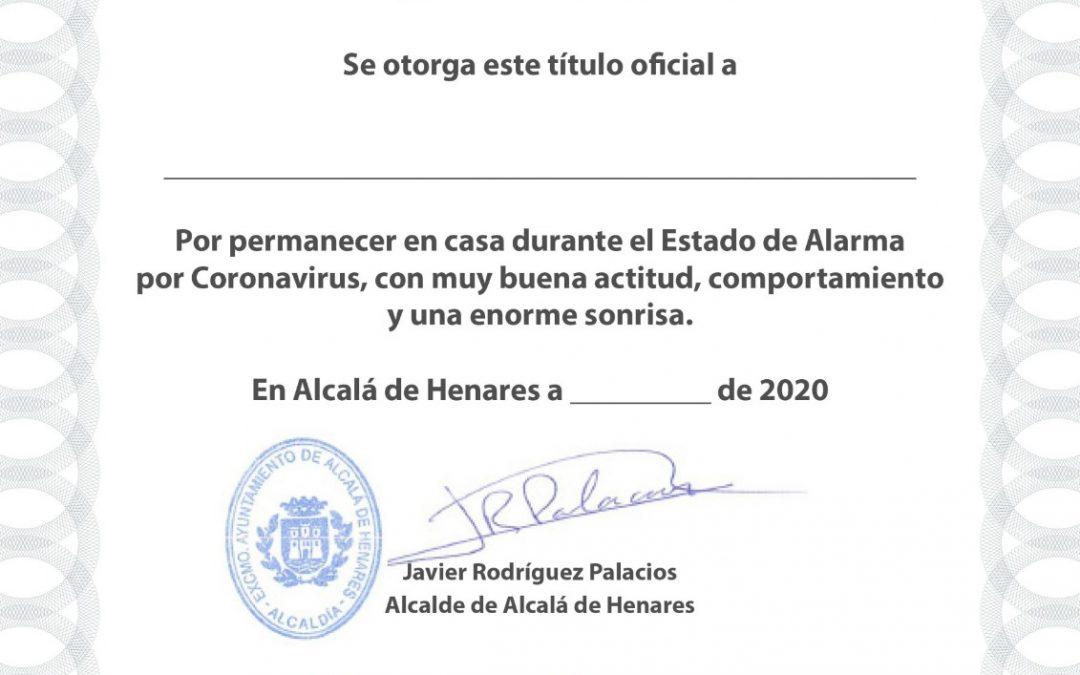 La Policía Local de Alcalá ha recibido más de 3000 solicitudes de diplomas a los niños y niñas de la ciudad que se han portado tan bien durante el confinamiento