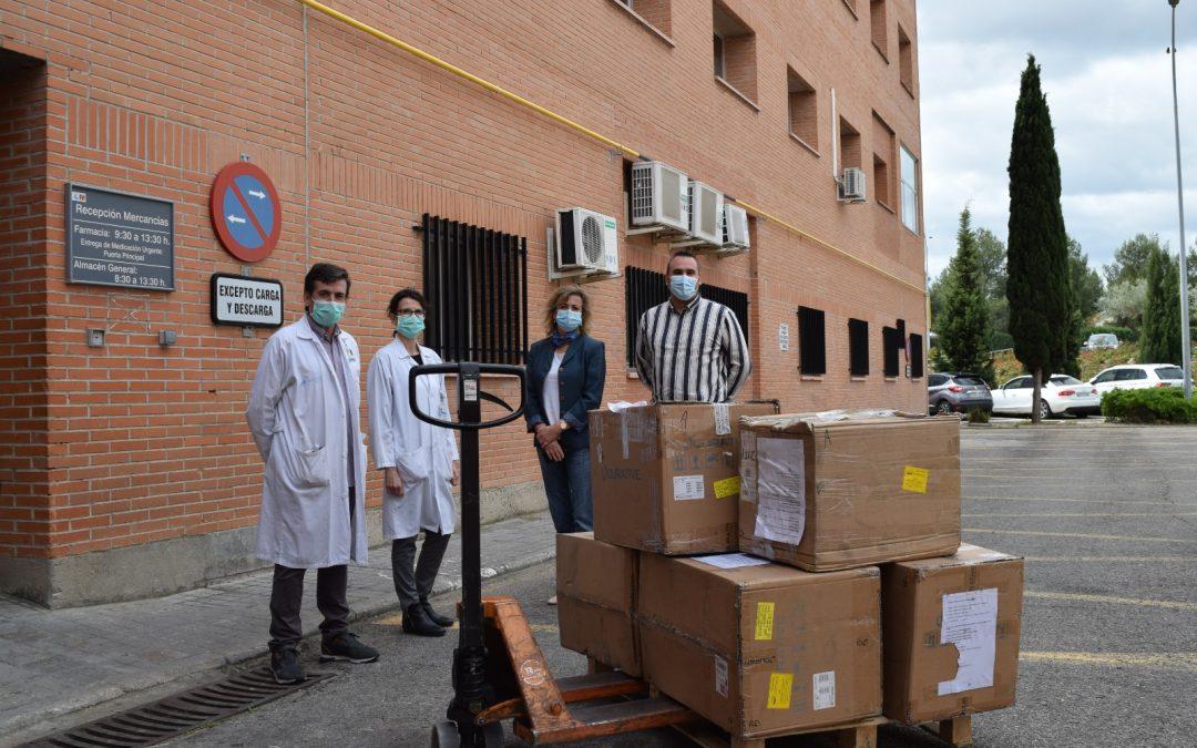 El Hospital Príncipe de Asturias recibe 18 respiradores, 1000 mascarillas quirúrgicas y 120 gafas estancas donadas por un colectivo de ciudadanos de Wuhan