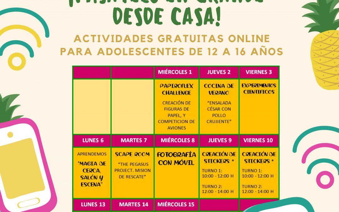 """Vuelve el programa de actividades gratuitas para adolescentes """"VacAcciones"""", esta vez de manera online"""