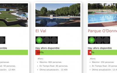 El Ayuntamiento habilita un portal web para consultar el aforo de las piscinas municipales en tiempo real de forma online