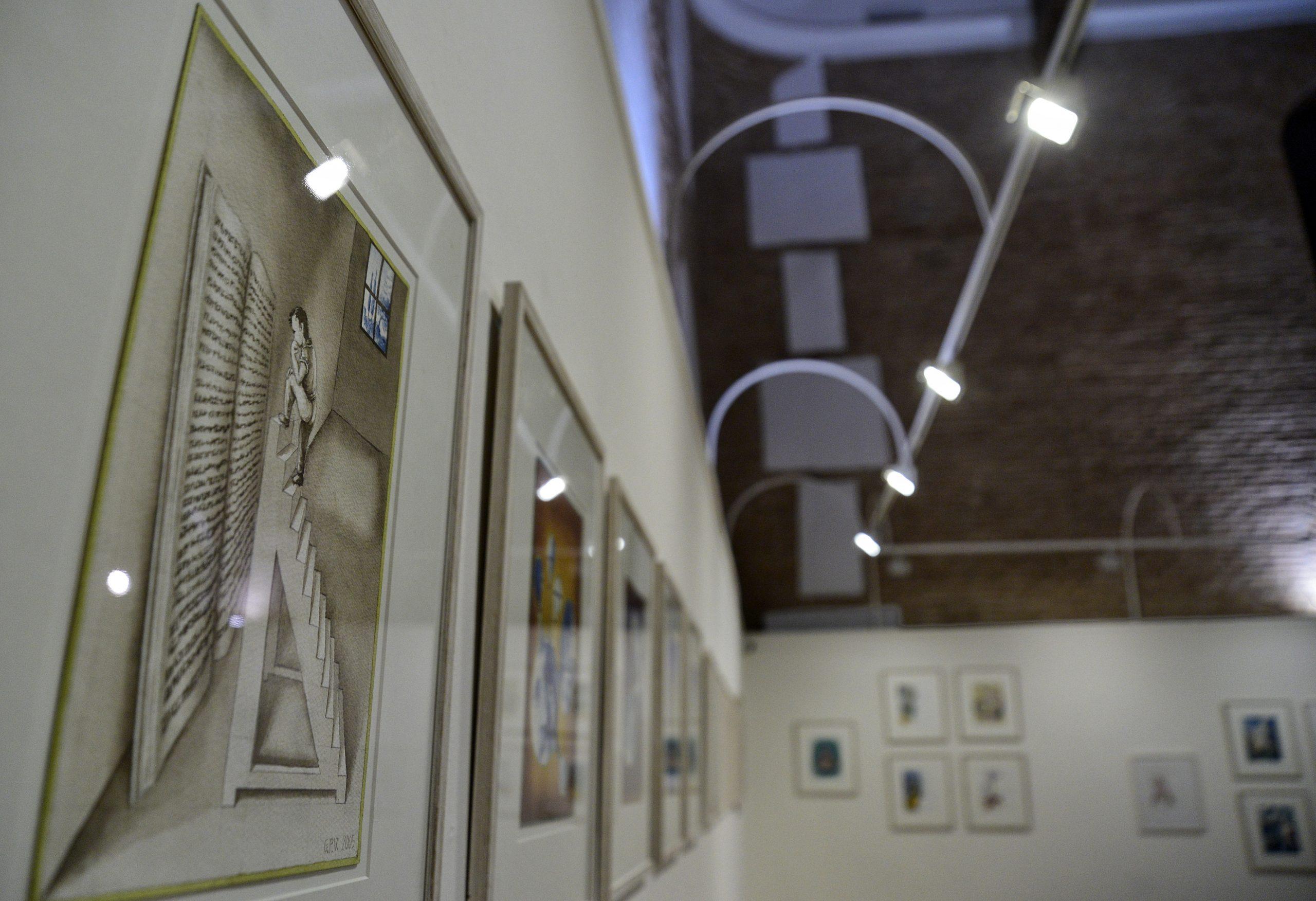 Exposición acuarelas Viajes Gulliver