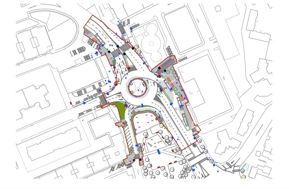 El Ayuntamiento mejora la movilidad en la intersección de las Avenida de Daganzo y Ajalvir, creando un nuevo intercambiador de autobuses