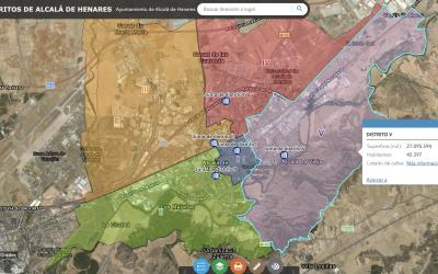 """El Ayuntamiento habilita dos nuevos mapas de servicios: """"Distritos de Alcalá"""" y """"Camina Alcalá"""""""