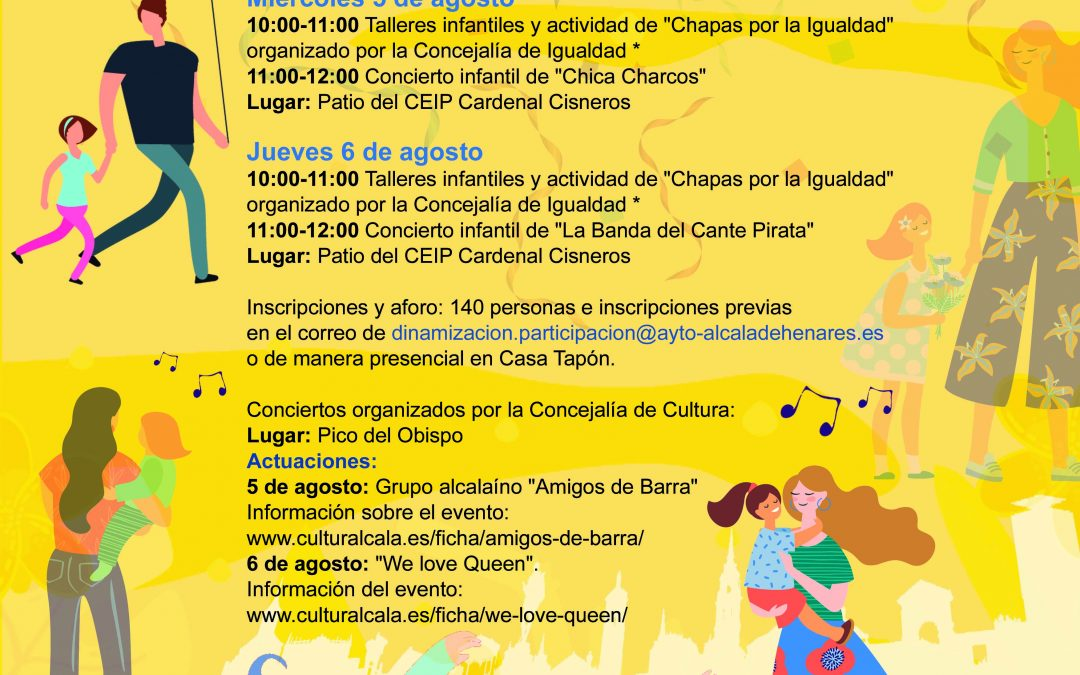 Los días 5 y 6 de agosto, el Distrito I organiza unas jornadas culturales en homenaje a los Santos Niños
