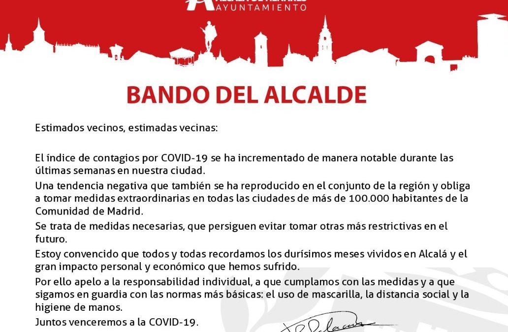 BANDO DEL ALCALDE, JAVIER RODRÍGUEZ PALACIOS